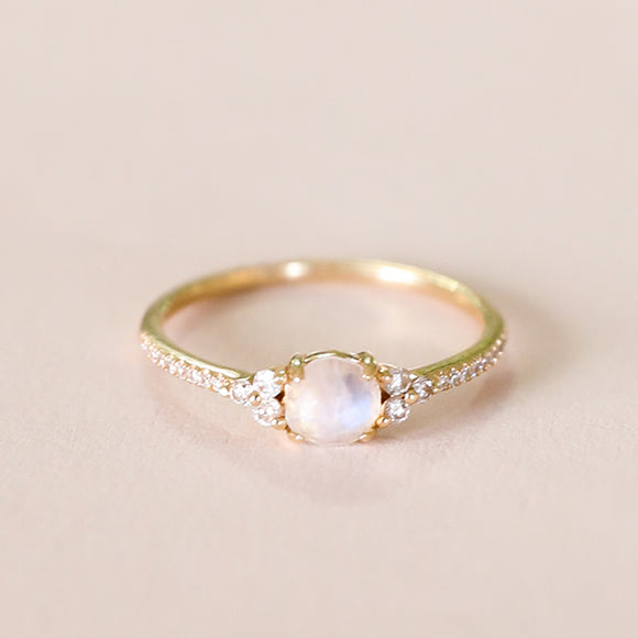 Moonstone Center Ring