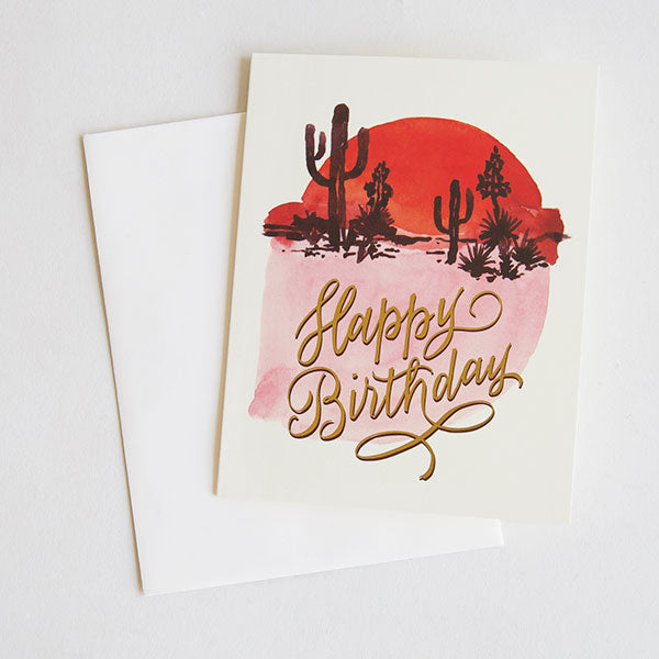 Abstract Cactus Birthday Card