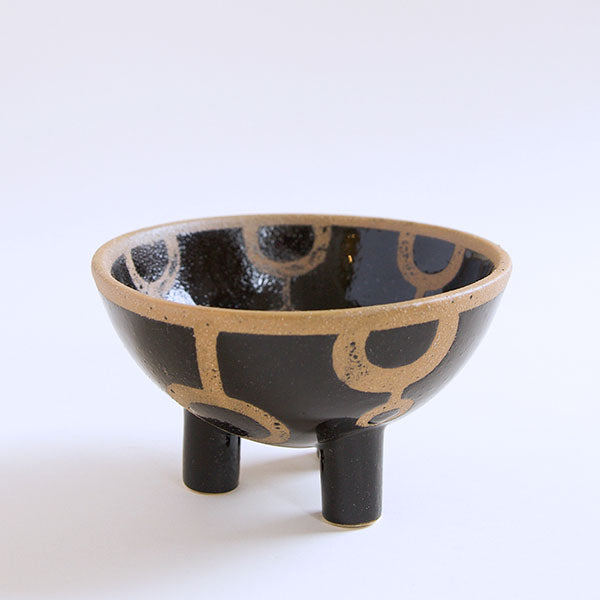 Aztec Footed Bowl - Pigment