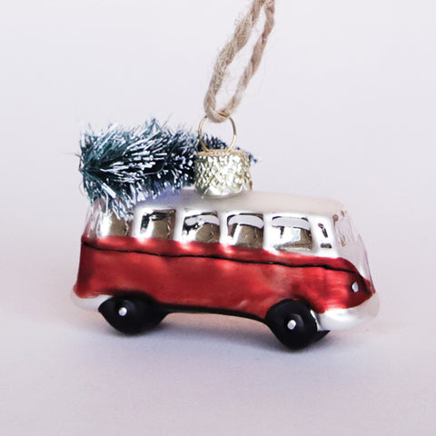Red VW Bus Ornament