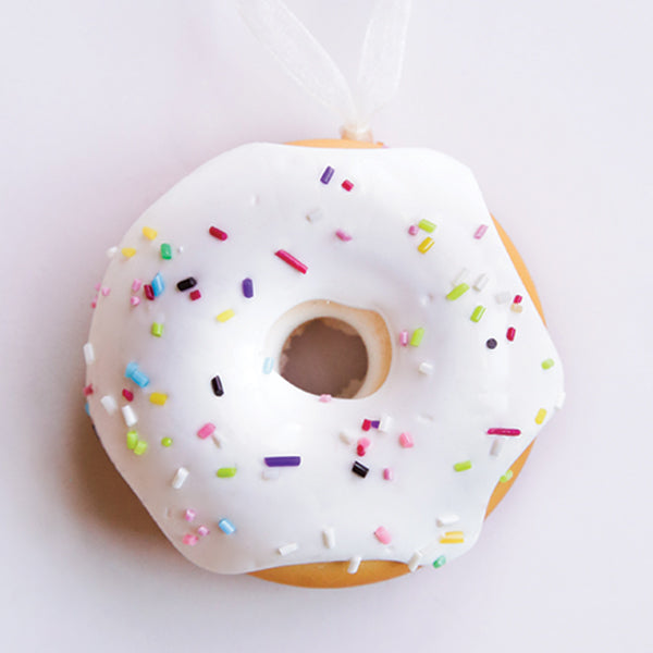 White Frosting Donut Ornament