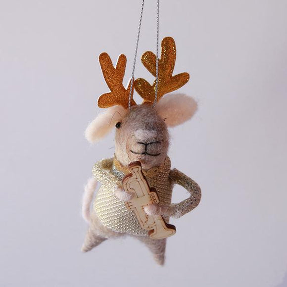 Musical Mice Ornament - Trumpet - Pigment