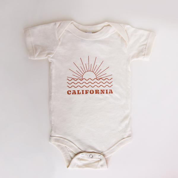Cream Sunset California Onesie - Pigment