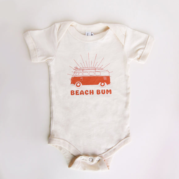 Cream Beach Bum Van Onesie - Pigment