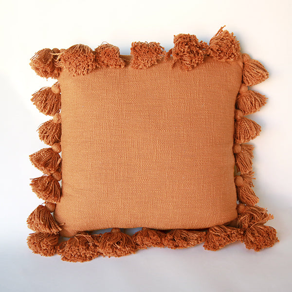 Tassel Pillow - Orange - Pigment