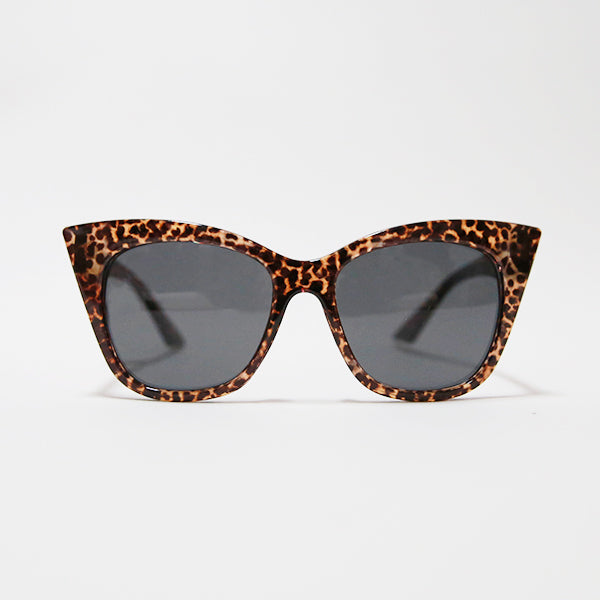 Pointy Cat Eye Sunglasses - Leopard
