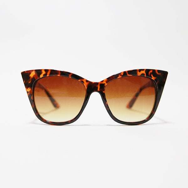 Pointy Cat Eye Sunglasses - Tortoise