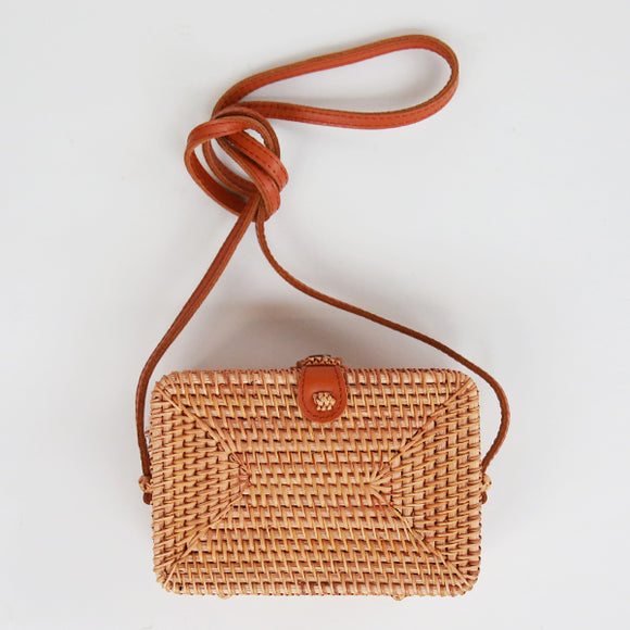 Rattan Siena Shoulder Bag - Pigment