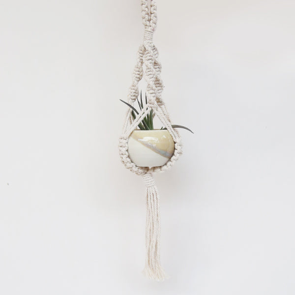 Extra Small Macrame Plant Hanger - 12in - Pigment