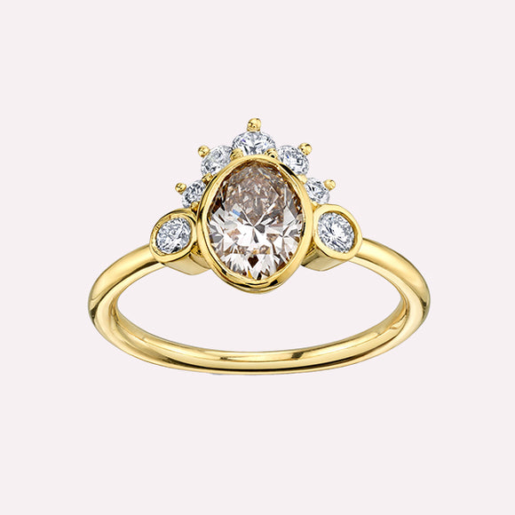 Champagne Headdress Ring - Pigment
