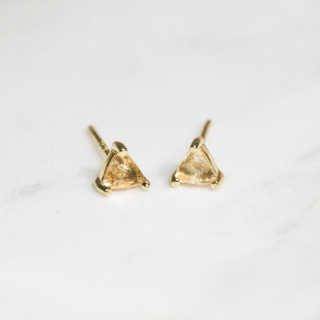 Citrine Success Studs - Pigment