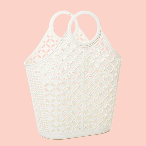 Atomic Retro-Styled Tote in Cream