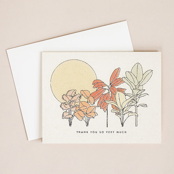 Desert Plants Thank You Card