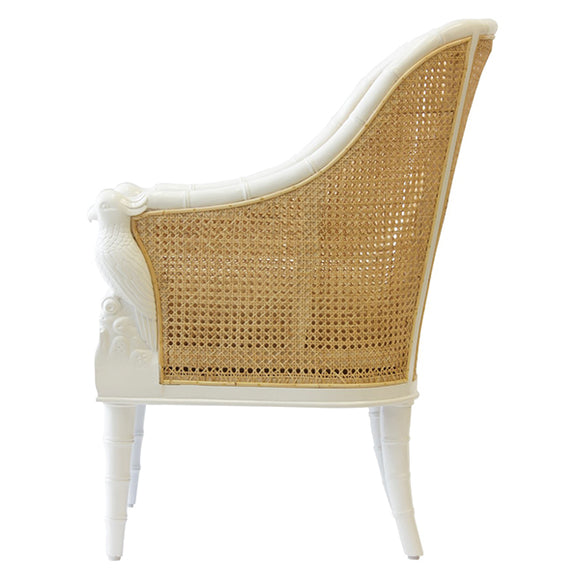 Cockatoo Chair - White w/ Natural Caning - Pigment