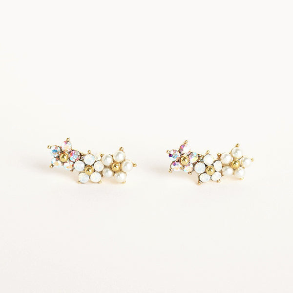 Floral Climbers Earrings - Pigment