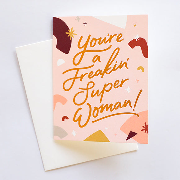 Freakin Super Woman Card