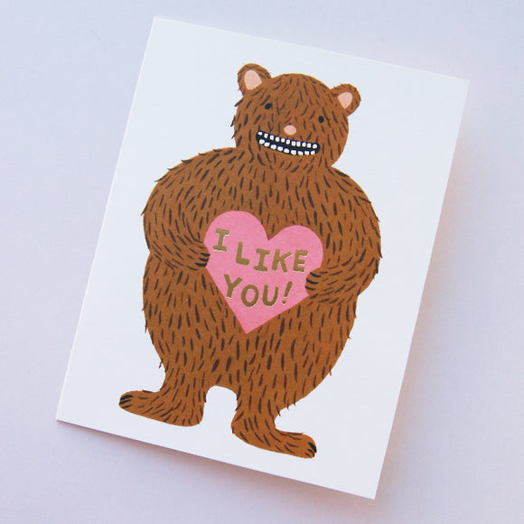 I Like You Card - Pigment