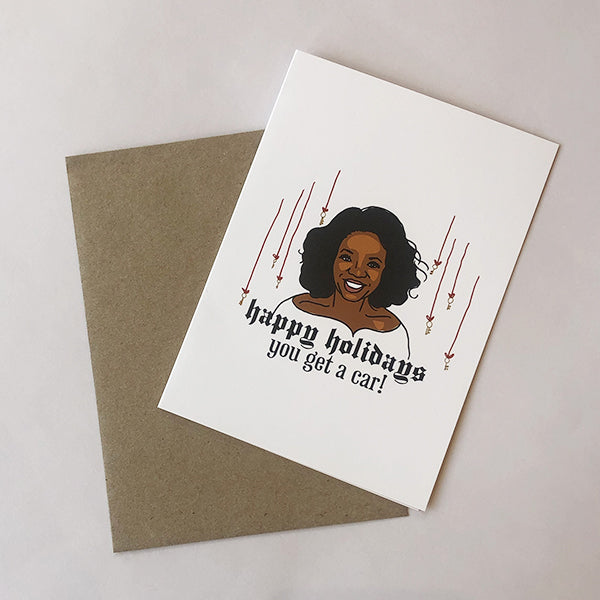 Oprah Happy Holidays Card - Pigment