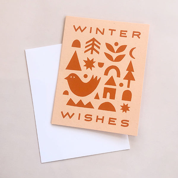 Winter Wishes Collage Card - Pigment