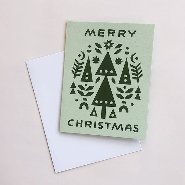 Merry Christmas Collage Card - Pigment