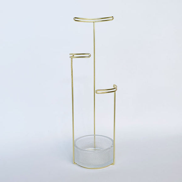 Tesora Jewelry Stand Brass