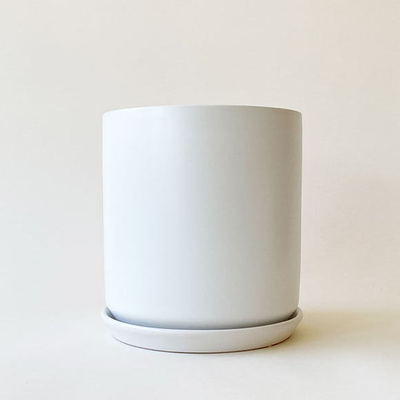 Joni White Cylinder with Tray