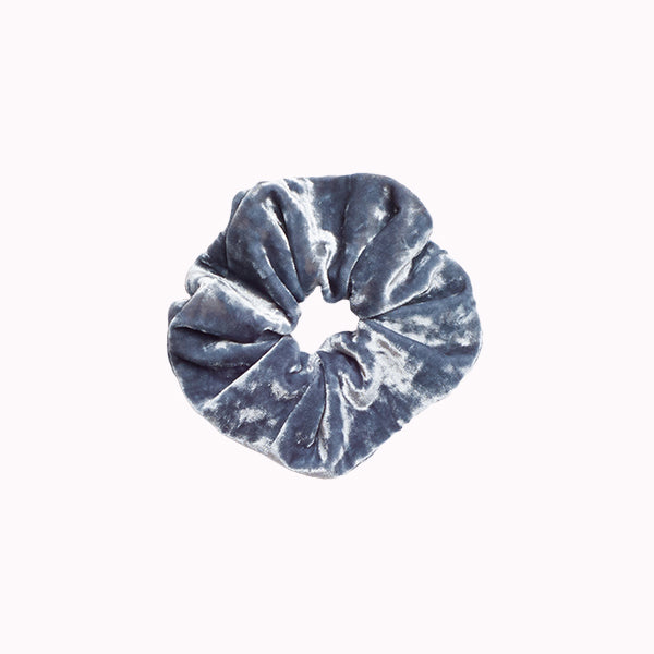 Slate Crushed Velvet Scrunchie