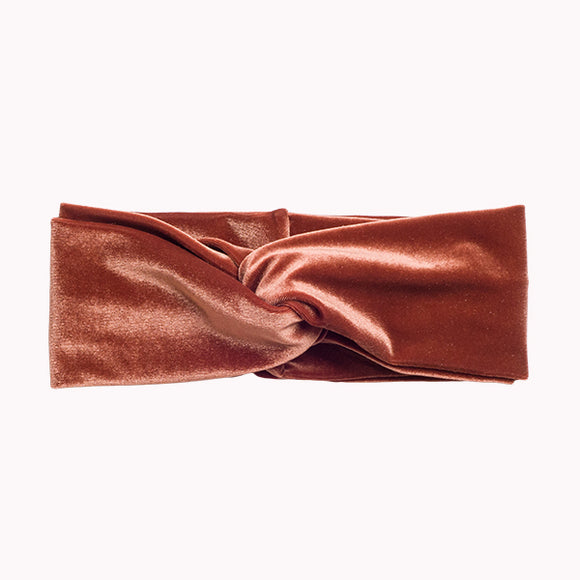 The Brown Velvet Turban Headband