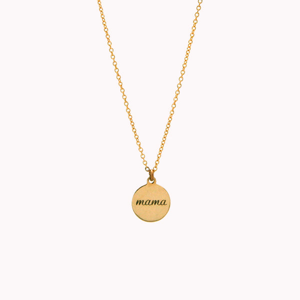 Mama Round Necklace