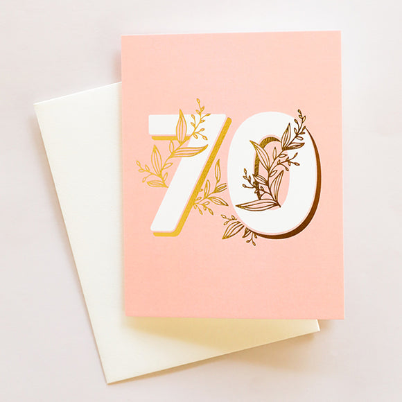 No. 70 Floral - Birthday Card