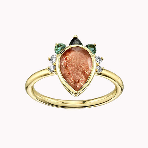 Desert Nights Sunstone Ring