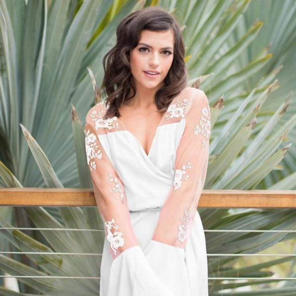 Hildy Robe White - 'Bride'