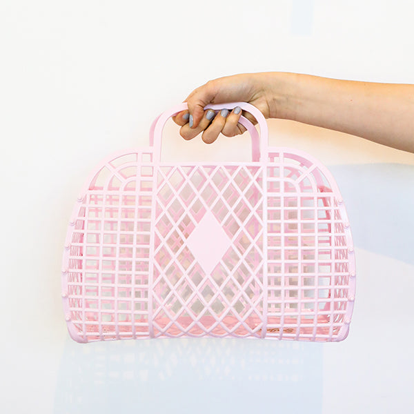 Retro Basket in Pink