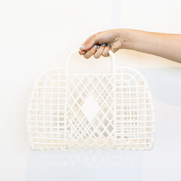 Retro Basket in Cream