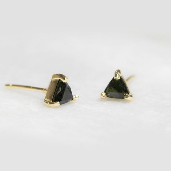Black Tourmaline Protection Studs - Pigment