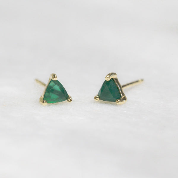 Green Chrysoprase Joy Studs