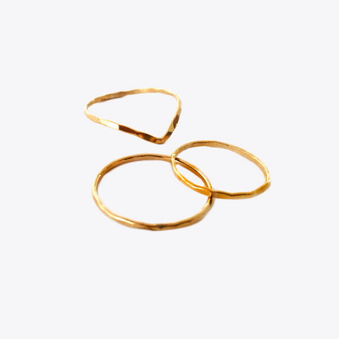 Mimi + Lu Stackable Gold Fill Rings, Set of 3