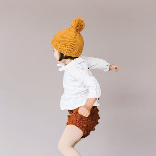 Single Pom Hat - Mustard - Pigment