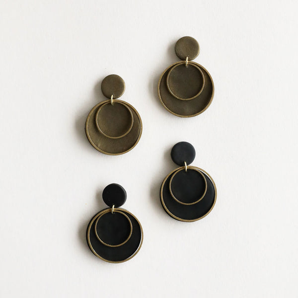 Rachel Earrings with Metal