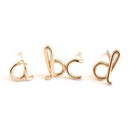 14k Gold Filled Initial Stud - Pigment
