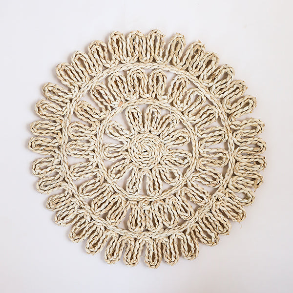 Woven Straw Placemat, Natural