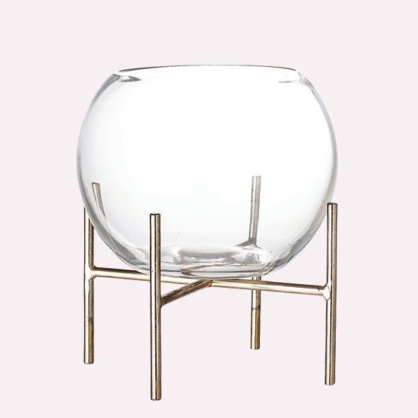 Glass Vase with stand