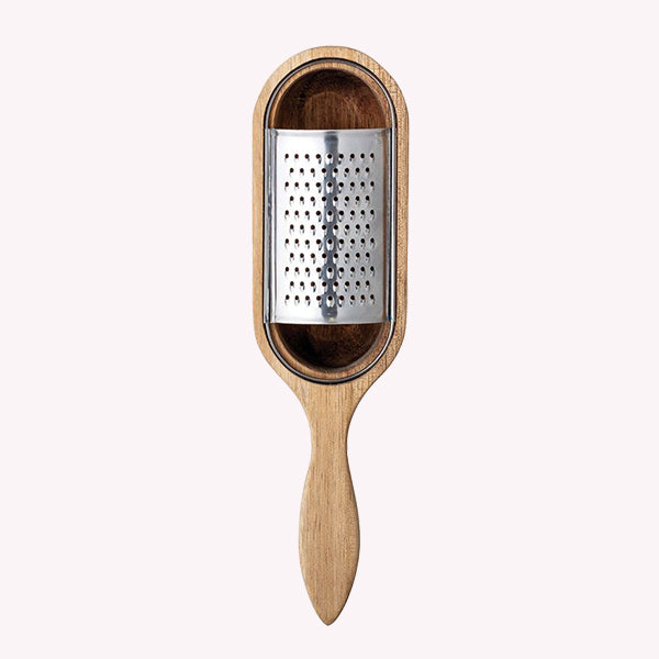 Acacia Wood & Stainless Steel Grater - Pigment