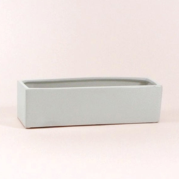 White Long Rectangle Vessel - 14 inch