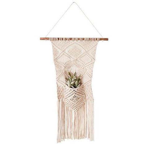Macrame Wall Hanging with Pocket