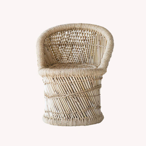 Bamboo and Rope Chair - Pigment