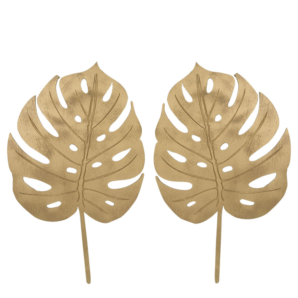 Gold Delicious Monster Leaf Cut-Outs. Wall Art, Home