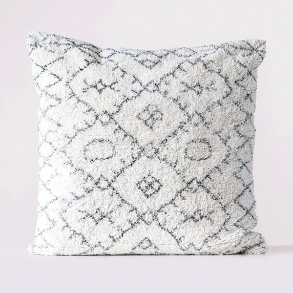 Cotton Tufted Pillow - Natural & Black - 30