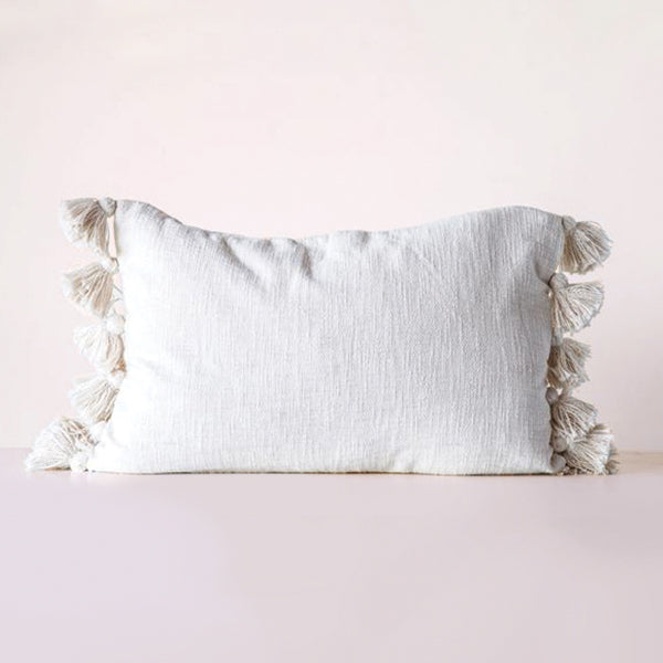 Cotton Woven Slub Pillow - Natural