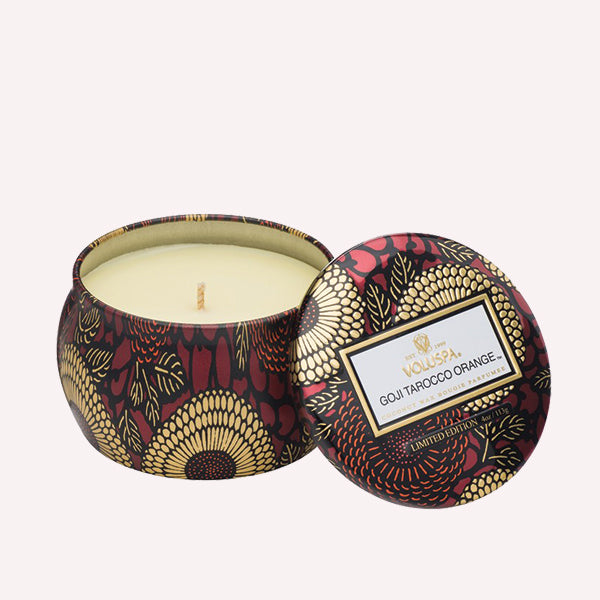 Goji and Tarocco Orange - Petite Decorative Candle